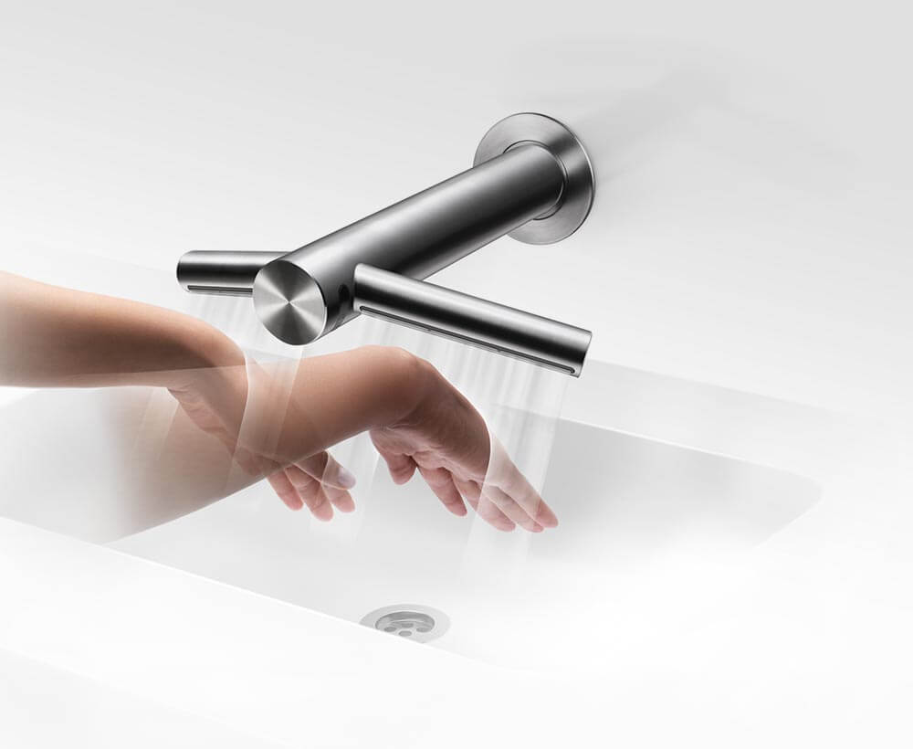 no waste water on the floor with airblade - Dyson Hand Dryer