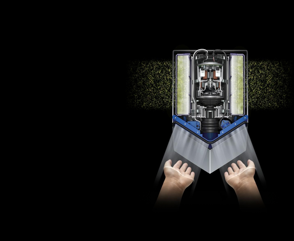 hepa filtration of a dyson airblade v hand dryer - Dyson Airblade V